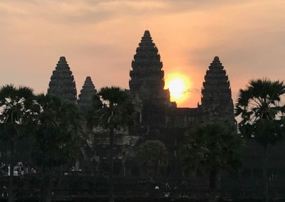 Angkor Wat sunset over Temple.
