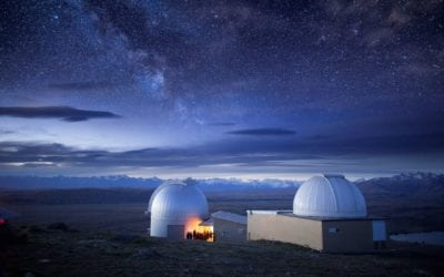 A night of Astronomy at Mt John Observatory